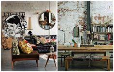 os anos 1950 e 1960, peças vintage são muito bem vindas, podendo ser algo mais leve com cores ou rústico, com madeira ou couro. O equilíbrio aqui é essencial para não pesar demais. Que tal ir a um brechó? P