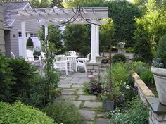 Bluestone patio and arbor - Traditional - Landscape - Minneapolis - Steve Gorman- bachmans landscaping Garden Design Plans, Patio Design, Backyard Retreat, Backyard Landscaping, Porches, Bluestone Patio, Cedar Pergola, Patio Layout, Garden Maintenance