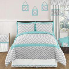 grey and yellow comforter | Yellow and Gray Chevron Zig Zag Childrens, Kids, Teen Bedding - 3pc ...