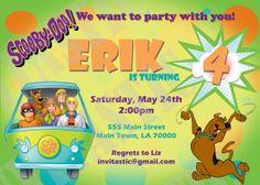 Scooby Doo Birthday Invitation by InvitasticInvites on Etsy, $10.00