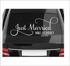 Just Married Decal Vinyl Decal for Vehicle by CustomVinylbyBridge