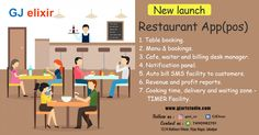 Cafe, waiter and billing desk manager. Auto bill SMS facility to customers. Revenue and profit reports. Cooking time, delivery and waiting zone - TIMER Facility. Restaurant App, New Launch, Pos, Cooking Time, Waiting, Delivery, Menu, Management, Product Launch