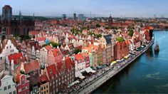 Aerial View Old Town Stare Miasto Gdańsk Poland. Things to do in Poland. Old Town Gdansk, Gdansk Poland, Poland Tourism, Poland Travel, Places To Travel, Places To See, Travel Destinations, Romantic Destinations, Travel Tourism