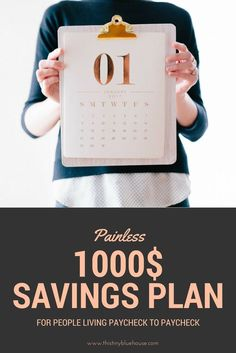 Easy and painless way to save at least $1000 in 12 months. #savings #money #finance #emergencyfund #frugal