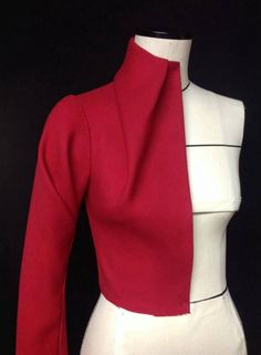 Draping - dart into collar
