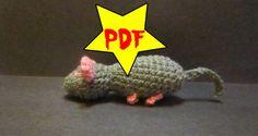 Grey Mouse Crochet Toy Pattern PDF by MadebyJody666 on Etsy