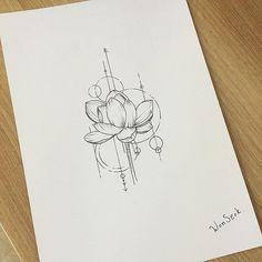 New tattoo lotus geometric henna ideas Mini Tattoos, Trendy Tattoos, Black Tattoos, New Tattoos, Small Tattoos, Lotus Design, Lotus Tattoo Design, Tattoo Designs, Arm Tattoo