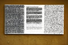"Márton Kabai, Ficciones Typografika 169-171 (24""x36""). Installed on December 2, 2013. More: http://ficciones-typografika.tumblr.com/"