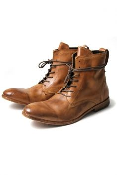 h by hudson - men's swathmore calf leather boot (tan)