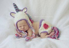 My Little Unicorn Hat and diaper cover set- Made to Order- Any size on Etsy, $45.00