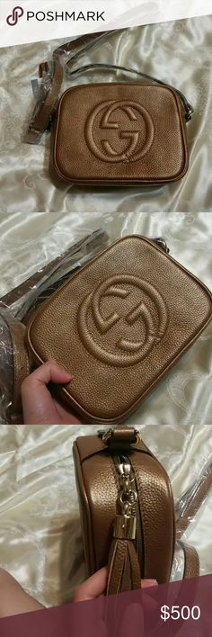 Gucci Soho crossbody gold bags In spired Gucci bag. Got it as a gift. Not my style. Gucci Bags Crossbody Bags