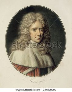 Montesquieu, Charles-Louis de Secondat, baron de la Brede et de (1689-1755), French erudite philosopher and writer,