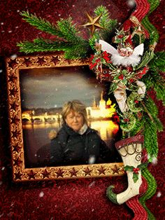 Your funny photo is ready! Funny photo effect Christmas Card. Have fun with FunPhotoBox