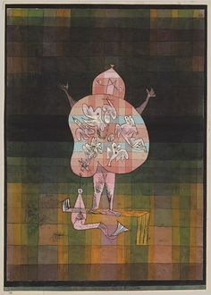 Ventriloquist and Crier in the Moor, 1923 Paul Klee (German, 1879–1940) Watercolor and transferred printing ink on paper, bordered with ink; 15 1/4 x 11 in. (38.7 x 27.9 cm)