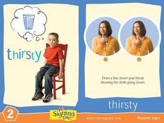 Are you THIRSTY? Wouldn't it be great to know when your pre-verbal child is THIRSTY? Here is a free flash card and video so you can learn how to teach your child the sign for THIRSTY.