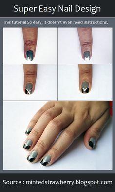 Super Easy Nail Design | PinTutorials