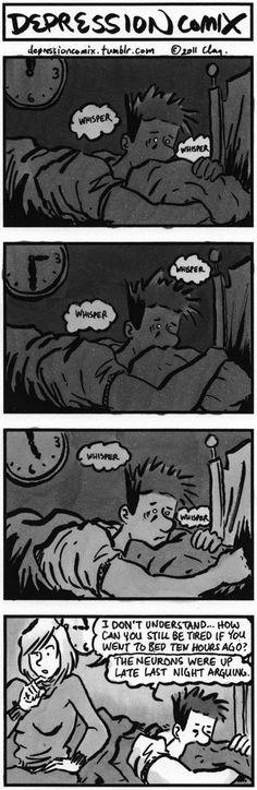 can't sleep. Brain'll eat me.