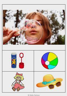 visuaalisen lukutaidon tehtävä: Mikä esine tai asia liittyy esitettyyn valokuvaan?