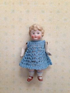 Antique Vintage All Bisque Jointed Doll