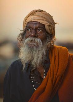 Sadhu -  Hindu Holy man in Varanasi, India