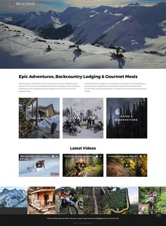 Backcountry Lodge Online Booking Platform.