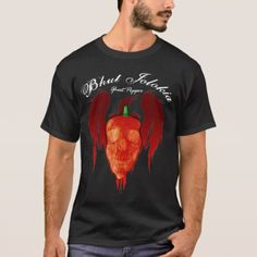 Shop Ghost Pepper Shirt created by chili_pepper_shirts. Bhut Jolokia, Ghost Peppers, Stuffed Hot Peppers, Tshirt Colors, Fitness Models, Shop Now, Shirt Designs, Mens Tops, How To Make