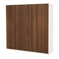 IKEA - PAX, Garderobekast, 200x60x201 cm, standaardscharnier, , Gratis 10 jaar garantie. Raadpleeg onze folder voor de garantievoorwaarden.Deze kant-en-klare PAX/KOMPLEMENT-oplossing is met de PAX-planner makkelijk aan te passen aan je behoefte en smaak.Wil je de binnenkant op orde houden, dan kan je het geheel completeren met inrichting uit de serie KOMPLEMENT.Met de verstelbare poten kan je oneffenheden in de vloer opvangen.