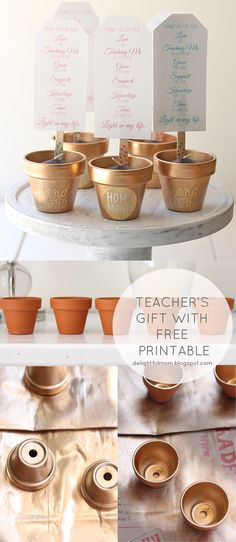 DIY teachers gifts idea with free printable