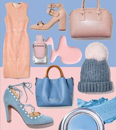 How to Wear the Pantone Colors of 2016: Rose Quartz and Serenity