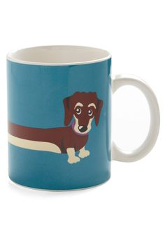 My Pup of Tea Mug, you know I love anything that  has a weiner dog!  $14.99