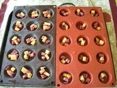 Pour l'apéritif petites bouchées chorizo-mimolette.