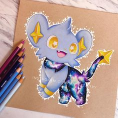 "2,331 Likes, 76 Comments - MARILYN MAE (@maeartistry) on Instagram: ""✩ Hey friends! I finally finished Shinx!  it took me a while because I kept setting it aside to…"""