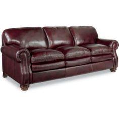 Montgomery Sofa by La-Z-Boy! I always love a classy leather sofa. #MOMCAVE