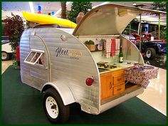 10' TEAR DROP CAMPER  AT DAN GAMEL's RV AND CAR SHOW IN FRESNO, CA. by Bob the Real Deal, via Flickr