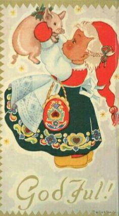 Coucheron Scandinavian Holidays, Norwegian Christmas, Christmas Cards, Christmas Postcards, Norway, Disney Characters, Fictional Characters, Anna, Dolls