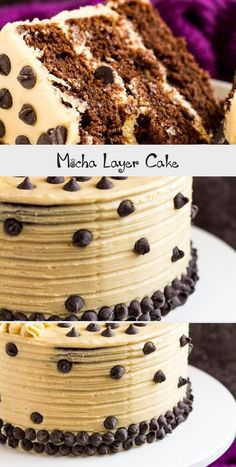 Mocha Layer Cake - Incredibly moist and fluffy chocolate layer cake infused with coffee, and frosted with a sweet coffee flavoured buttercream! Different Wedding Cakes, Types Of Wedding Cakes, Cool Wedding Cakes, Vegan Wedding Cake, Wedding Cake Flavors, Moka, Southern Wedding Cakes, Mocha Cake, Traditional Wedding Cakes