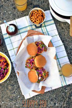 Lentil Sloppy Joe Sliders - www.SimplyScratch.com #vegetarian