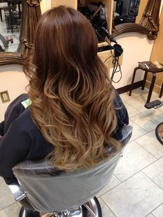 Fall color, fall ombré, ombré, sombre, hair by Ashley Spadano, color, hair color