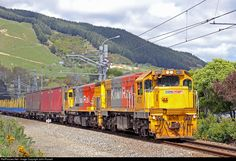 High quality photograph of KiwiRail EMD DC # 4571 at Waikanae, New Zealand. South Pacific, Pacific Ocean, State Of Arizona, Train Station, New Zealand, Euro, Trains, Island, World