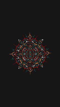 Artwork Circle Square sh ape etc. Mandala Wallpaper, Dark Wallpaper, Tumblr Wallpaper, Flower Wallpaper, Mobile Wallpaper, Wallpaper Backgrounds, Cellphone Wallpaper, Psychedelic Art, Mandala Art