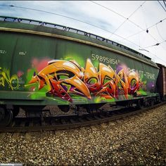 Graffiti art by Rasko / Moscow / Freights Graffiti. Sit back and enjoy the selection of vandalized surfaces from your hometown.