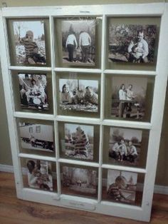 Wall Picture Display Ideas Window Frames 19 Ideas For 2019 Old Window Decor, Old Window Frames, Window Art, Window Panes, Barn Window Ideas, Door Picture Frame, Wedding Picture Frames, Picture On Wood, Wedding Pictures