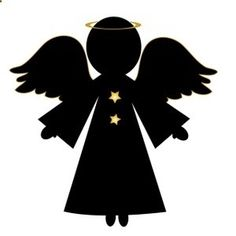 Free Angel Clip Art Image: Christmas Angel in Silhouette