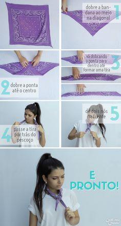 Bandana | 5 Ways to wear a bandana | 5 Formas de usar bandanas | http://cademeuchapeu.com