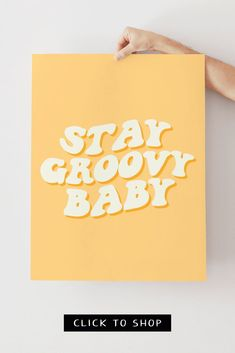 Stay Groovy Poster by printablezenco.com - click to shop! #printablewallart #printableposters Dorm Posters, Art Prints Quotes, Unique Wall Art, International Paper Sizes, Aesthetic Art, Dorm Decorations, Printable Wall Art, Lovers Art, Boho Style