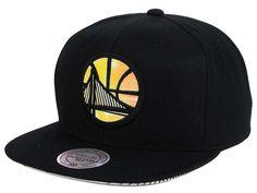 Golden State Warriors Mitchell   Ness NBA Orange Gaze Snapback Cap 43f79dd3c2c