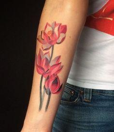 Flower tattoo by Sasha Unisex