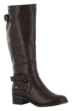 Easy Street Mesa Damen US 6.5 Braun Breit Mode-Knie hoch Stiefel - Stiefel für frauen (*Partner-Link)