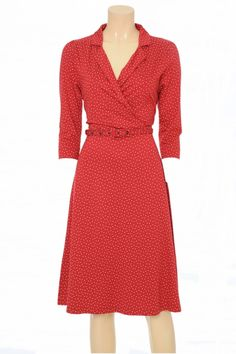 King Louie Kleid Polo Cross Dress Sylvester red Trachteria