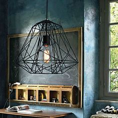Hive Pendant,1 Light, Creative Black Iron Painting – NOK kr. 1.191